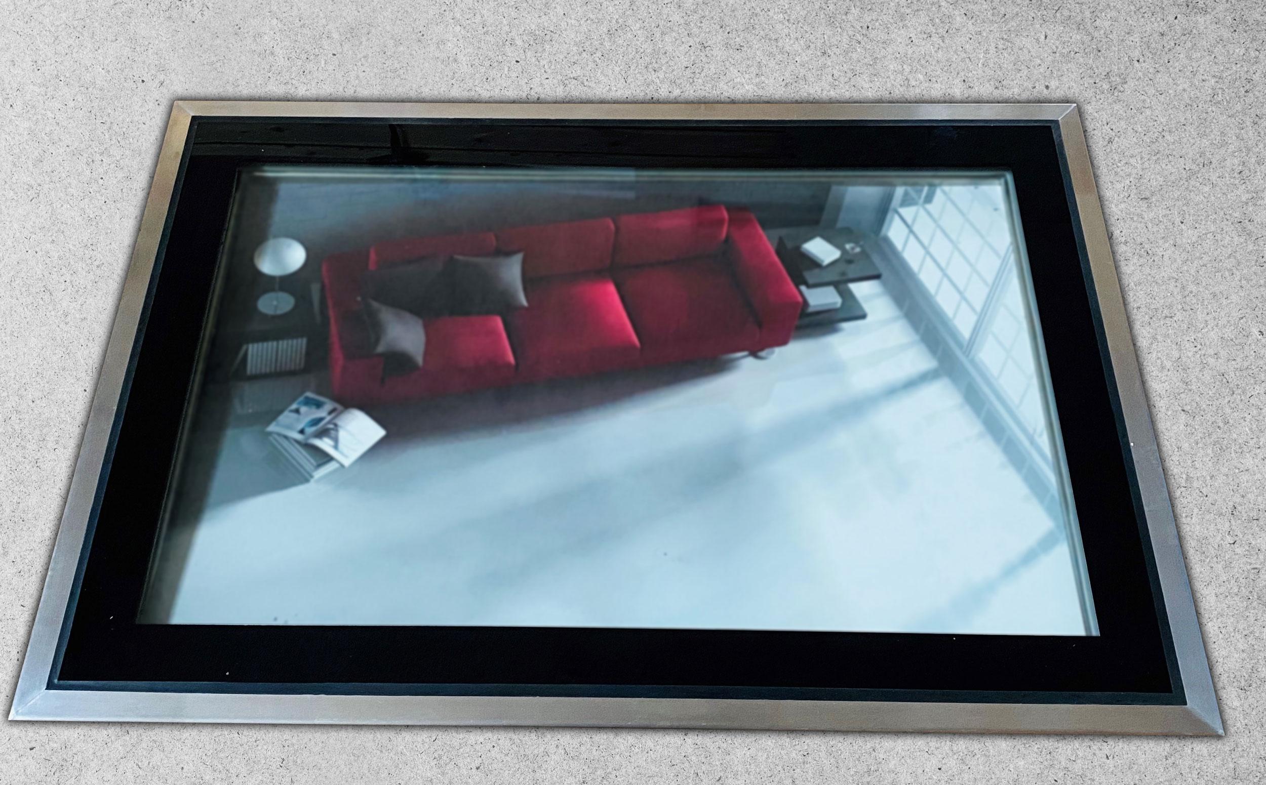 Glassfloor mit Priva-Lite im ausgeschalteten Zustand